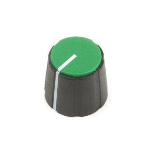 Black British 15mm Collet Knob with line, green cap
