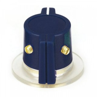 Classic Marconi knob, skirted, dark-blue 2 x Set screw, 1/4 Shaft hole
