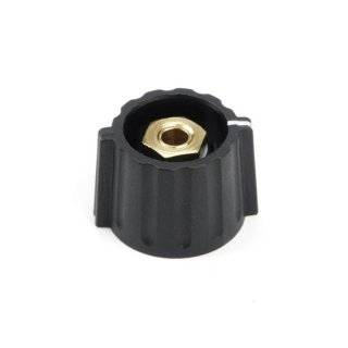 Elma Classic Collet Wing Knob 21mm schwarz, matt, 4mm shaft