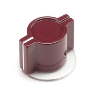 Elma Classic British Marconi Wing Metal Knob with skirt, Maroon